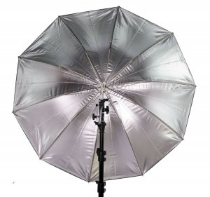 "36"" Black/Silver Umbrella with 10 Panels"