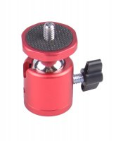 Mini Ball Head with Aluminum Plate (Red)