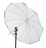 "45"" Silver/White Umbrella with 10 Panels"