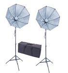 1000 eWatt 28in LED Dual Octagon Softbox Kit w/Bag