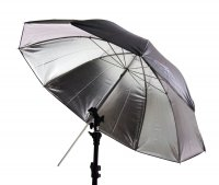 "60"" Black/Silver Umbrella with 10 Panels"