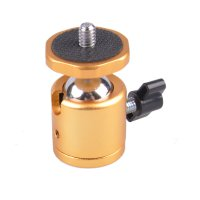 Mini Ball Head with Aluminum Plate (Gold)