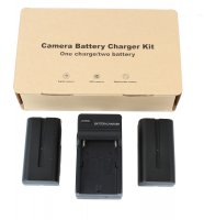 LiIon Battery Kit 2-NPF-550 and 1 Charger