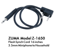 Flash Sync Cord 16 Inch 3.5mm Miniphone to Household